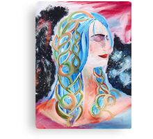 """Home"" Surreal Woman/Pleiades/Orion Canvas Print"