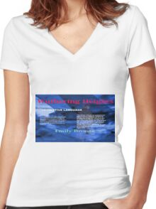 Wuthering Heights Figurative Language Women's Fitted V-Neck T-Shirt