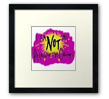 I am Not My Reproductive Organs Framed Print