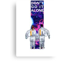 Don't Go It Alone - with text Canvas Print