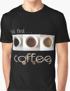 Coffee White Text Graphic T-Shirt