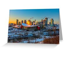 Calgary in the Cold Greeting Card