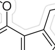 Psilocybin Molecule (Black) Sticker