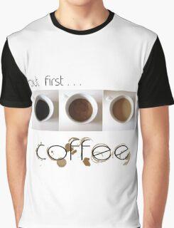 Coffee Black Text Graphic T-Shirt