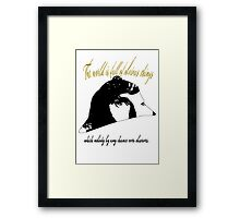 Sherlock Quote. Framed Print