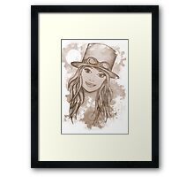 Steampunk Girl Framed Print