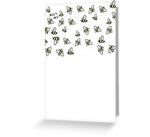 Buzz Off Bees Greeting Card