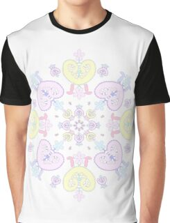 Pastel Lace (with white background!) Graphic T-Shirt