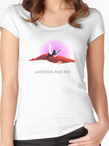 Lavender & RED  Women's Fitted Scoop T-Shirt