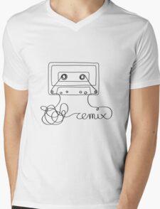 Remix - old cassette tape remixed Mens V-Neck T-Shirt