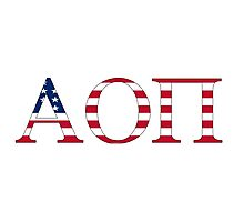Alpha Omicron Pi - USA Photographic Print