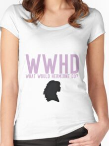 What Would Hermione Do? Women's Fitted Scoop T-Shirt