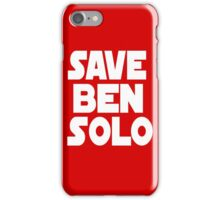 Save Ben Solo iPhone Case/Skin