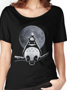 Totoro Moon Women's Relaxed Fit T-Shirt