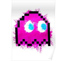 Pacman 8Bit Ghost (Pinky) Poster
