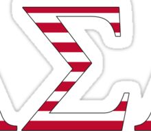 Alpha Sigma Alpha - USA Sticker