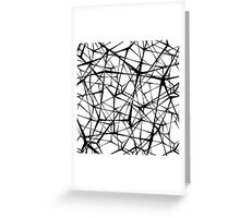 black web Greeting Card