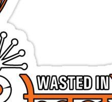 Wasted In Bombay - Orange Logo Promo Sticker