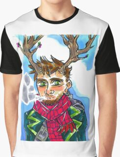 Smoking queer man Graphic T-Shirt