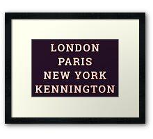 Big Cities Clobber Kennington Framed Print