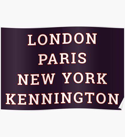 Big Cities Clobber Kennington Poster