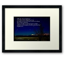 Bible Verse Matthew 6:9-13 Framed Print
