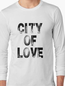 City Of Love - Black Text T-Shirt