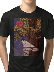 Tied to a tree under a blood moon Tri-blend T-Shirt