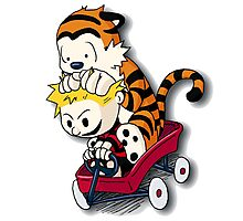 Calvin And Hobbes Good Times Photographic Print