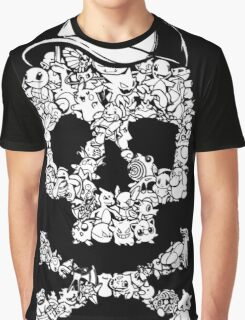 Pokemon Skull Pattern Graphic T-Shirt