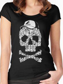 Pokemon Skull Pattern Women's Fitted Scoop T-Shirt