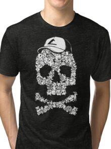 Pokemon Skull Pattern Tri-blend T-Shirt