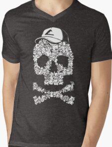 Pokemon Skull Pattern Mens V-Neck T-Shirt