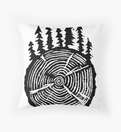 the wisdom is in the trees Throw Pillow
