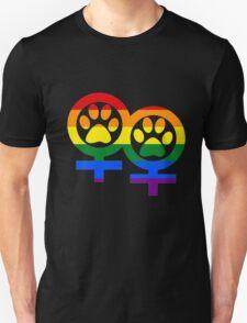 Lesbian rainbow kitty paws T-Shirt