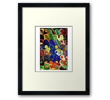 Glass Block Flowers  Framed Print