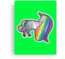 Robot Unicorn Canvas Print