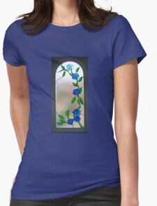 Royal Blue Welcome Womens Fitted T-Shirt