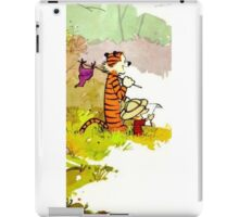 calvin and hobbes funny forest iPad Case/Skin