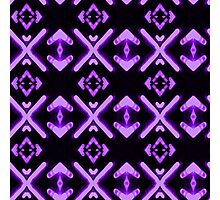 Bright Neon Purple Abstract Pattern Photographic Print
