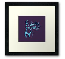 Divine Mother Pregnant Goddess purple blue  Framed Print