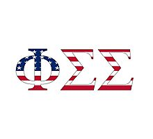 Phi Sigma Sigma - USA Photographic Print