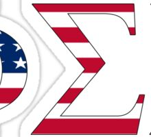 Phi Sigma Sigma - USA Sticker