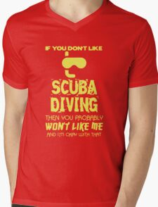Scuba Diving T-shirt Mens V-Neck T-Shirt