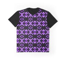 Bright Neon Purple Abstract Pattern Graphic T-Shirt