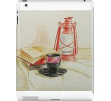 Still life with red oil lamp iPad Case/Skin