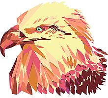 geometric eagle Photographic Print