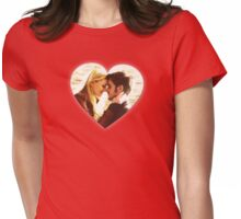 Captain Swan Heart Design 4 Womens Fitted T-Shirt