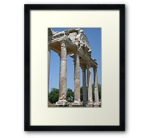 The Western Pediment of the Tetrapylon Framed Print
