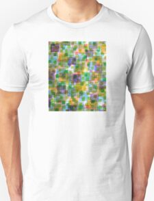 Large Squares covered by Small Green Squares  Unisex T-Shirt